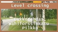 Lukkotehdas, Wahlforssinkatu Pilkko. half-barrier device Joensuu