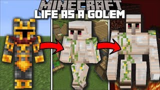 Minecraft LIFE OF AN IRON GOLEM MOD / BECOME AND IRON GOLEM AND SAVE THE VILLAGE!! Minecraft