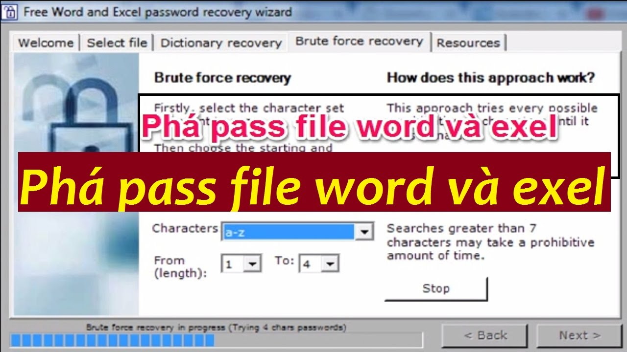 hướng dẫn phá pass file word