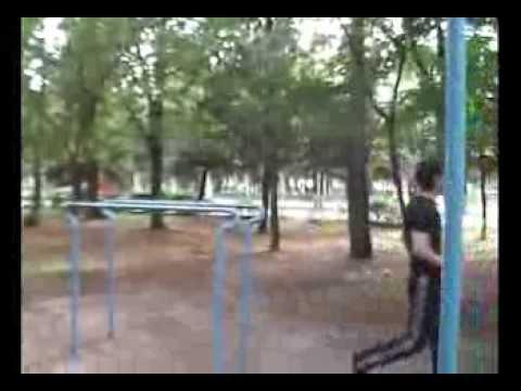 Kaspiysk.Workout,parallel bars,park