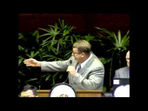 Rep. Bob McDermott gives the invocation in the Hawaii State House of Representatives