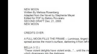 Official Rough Draft Of New Moon Script
