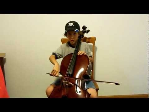 Boy with autism learning to play Florea Recital 3/4 cello