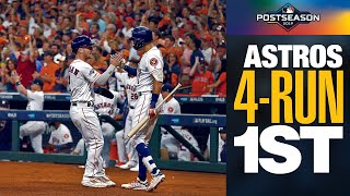 Alex Bregman and Astros start ALDS Game 5 ON FIRE with 4 runs in 1st inning | MLB Highlights