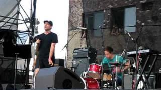 "Xiu Xiu and Deerhoof - ""She's Lost Control"" Joy Division Cover at Williamsburg Waterfront 7/11/2010"