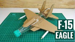 How To Make F15 Eagle Airplane from Plastic Bottle | Cara Membuat Pesawat Tempur F15 dari Botol