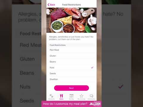 The Fitness App – How to customize my meal plan
