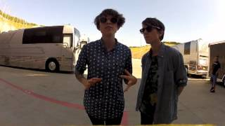 Tegan and Sara talking about upcoming gig at Madison Square Garden
