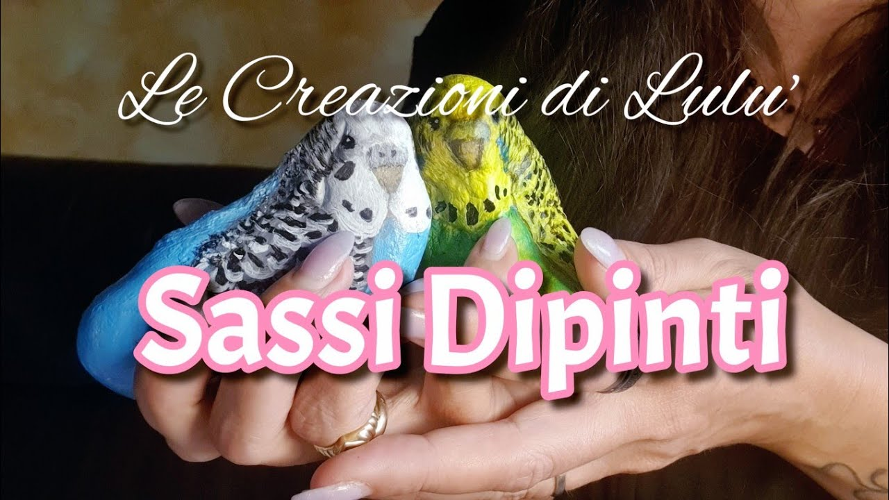 """[ ASMR ] - Le Creazioni di Lulu' - """" SASSI DIPINTI """"- Show and Tell"""