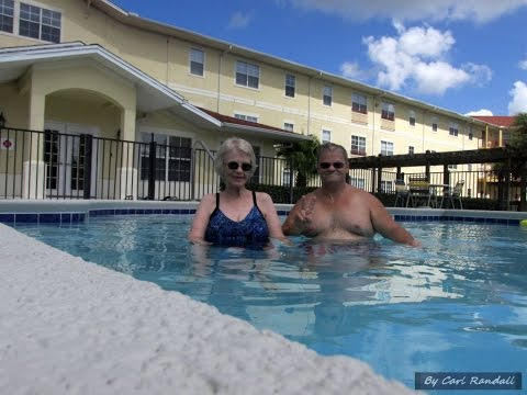 Carl and Regina in pool, Groves at Victoria Park Apts, 7 12 16