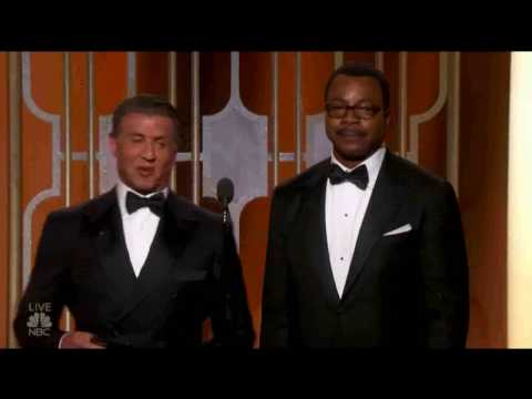 GOLDEN GLOBE 2017  Sylvester Stallone e Carl Weathers premiano Moonlight