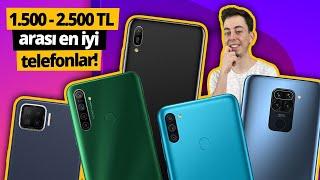 1.500 - 2.500 TL arası satın alınacak en iyi telefonlar! - Nisan 2021