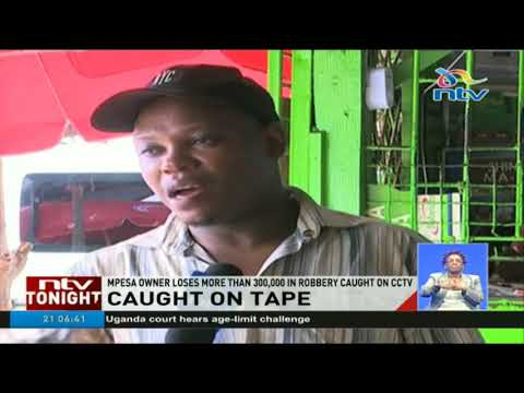 Thieves caught on camera robbing Mpesa shop in Mombasa