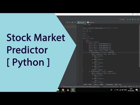Stock Market Predictor [ Python ][ Windows ][ Machine learning Basics ]