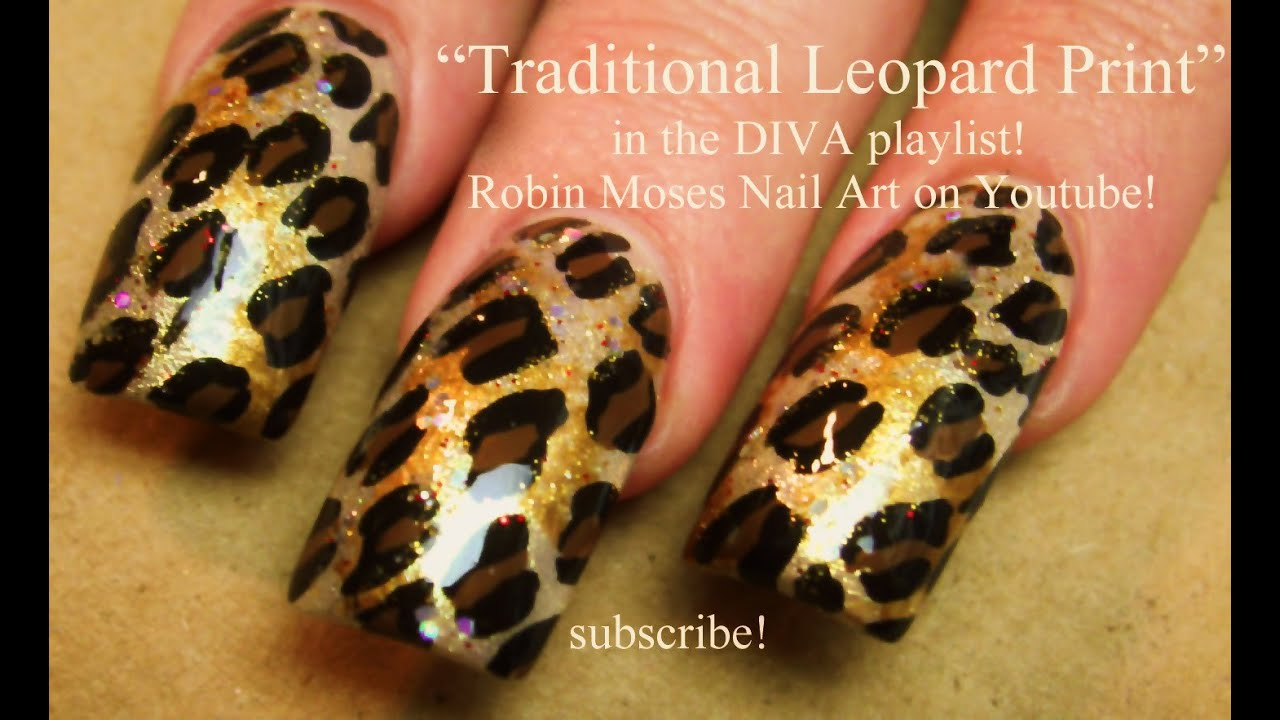 Easy Traditional Leopard Print Nails Animal Diva Nail Art Tutorial You