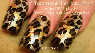 Easy Traditional Leopard Print Nails | Animal DIVA Nail Art Tutorial
