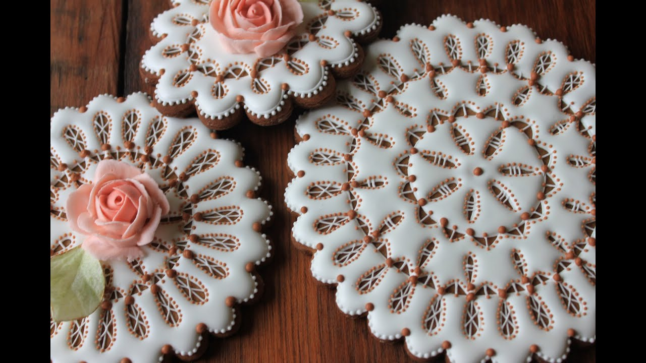 decorated shortbread cookies.htm how to make eyelet lace doily cookies cakecentral com  how to make eyelet lace doily cookies