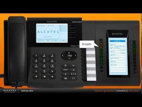 Alcatel Temporis Ip800 Téléphone Ip Sip Youtube