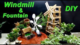 How to make Rotating Windmill and Fountain / DIY