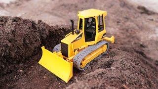 Bulldozer & Crane truck รถก่อสร้างขุดท่อระบายน้ำทำถนน รถแมคโคร รถเกรด รถบดดิน  รถเครน รถดันดิน