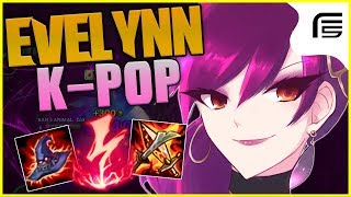 SKIN K-POP DA CAMPEÃ CONSIDERADA A MAIS SEXY DO JOGO - EVELYNN JUNGLE GAMEPLAY - League of Legends