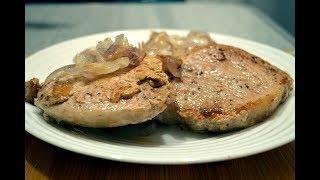 Жареное мясо с луком. Рецепт из свинины. Вкусно и просто