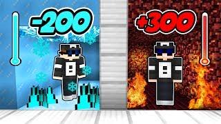 ❄️ EIS ZIMMER vs LAVA ZIMMER 🔥 in Minecraft
