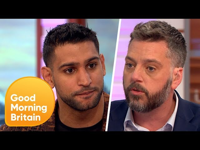 Amir Khan Comes Face-to-Face with I'm A Celeb Campmate Iain Lee | Good Morning Britain