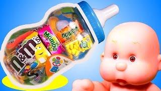 Куклы пупсики МЕГА СОСКА Видео для девочек Дочки матери KIDS Games Children Играем в Сладостей
