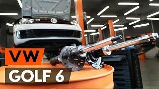 Hvordan forreste fjederben udskiftes på VW GOLF 6 (5K1) [GUIDE AUTODOC]
