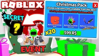 I BOUGHT *20* NEW CHRISTMAS PACKS & GOT THIS?! (Roblox Mining Simulator Update)