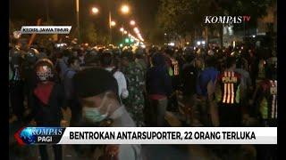 Suporter Persik Kediri dan PSIM Yogyakarta Bentrok, 22 Orang Terluka