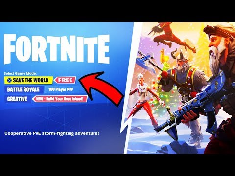 "Fortnite ""SAVE THE WORLD FREE"" in Season 8! (FREE STW RELEASE DATE)"