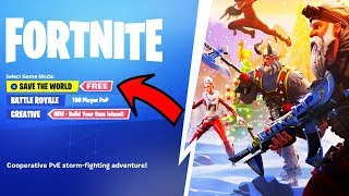 "Fortnite ""SAVE THE WORLD FREE"" dans la saison 8! (GRATUIT STW RELEASE DATE)"