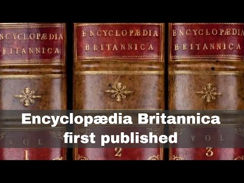 10th December 1768: First edition of the Encyclopædia Britan