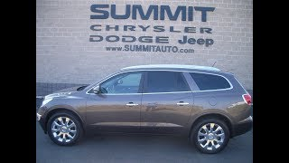 SOLD! 7C154A 2012 USED BUICK ENCLAVE PREMIUM FOND DU LAC WISCONSIN $17,499 www.SUMMITAUTO.com