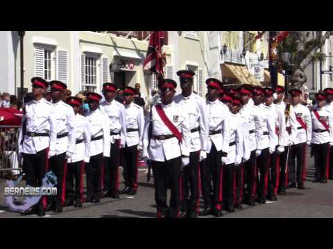 Regiment Marches In Peppercorn Ceremony Bermuda April 27 2011