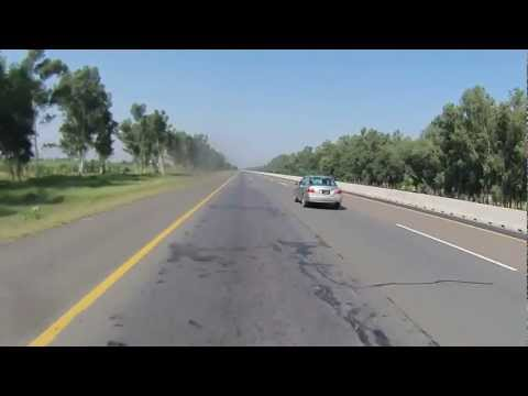 Lahore to Islamabad on Motorcycle via Motorway in HD - Part 1 of 6