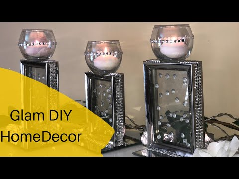 Glam Dollar Tree DIY || ZGallerie Inspired Candle Holder Decor