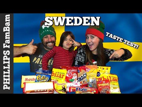 SWEDISH FOODS TASTE TEST | AMERICANS TRY SNACKS & CANDY from SWEDEN | DJUNGELVRAL | PHILLIPS FamBam