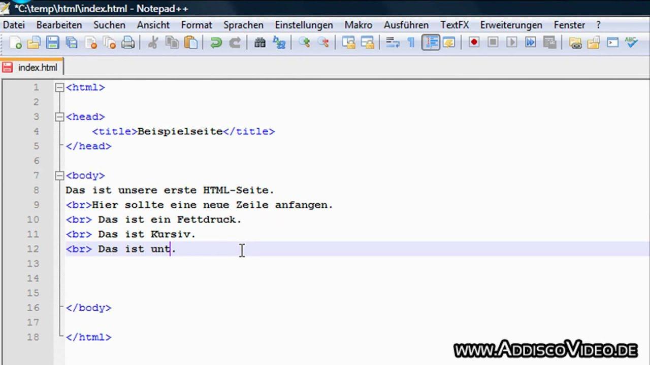 HTML lernen Das Grundgerüst Teil 30 von 30