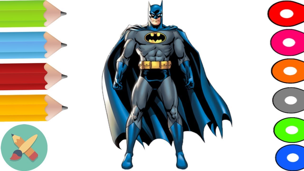 Magic Pencil Batman Coloring Pages For Kids Learning Colors With