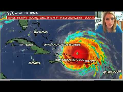 The National Hurricane Center's 2 p m  advisory holds the storm at 175 mph  Ashley Batey Meteorologi