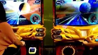 Arcade Super Bikes 2 G3, 2P gameplay on Space Race 1, Kawasaki Ninja vs Ducati 1198s 200!