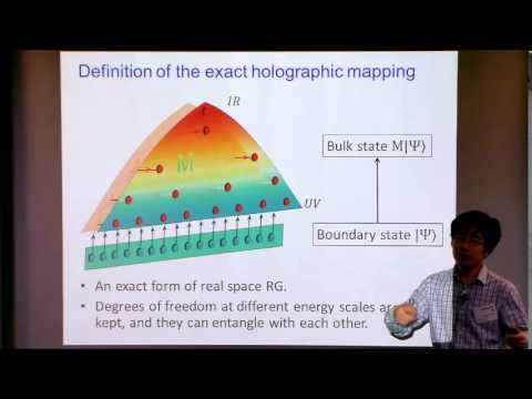 Exact Holographic Mapping and Emergent Space-time Geometry