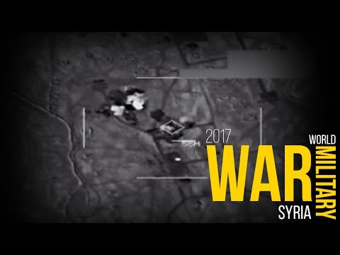 Syria War A Huge ISIS Convoy Gets Totally Killed By Air Strike Graphic Combat Footage