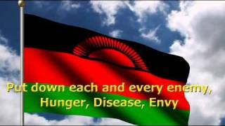 Malawi National Anthem (English Lyrics) + Flag change over time
