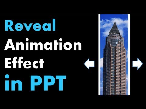 powerpoint animation tutorial reveal effect with moving background
