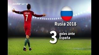Cristiano Ronaldo marca tres ante España