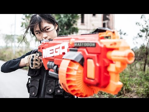 LTT Nerf War : Criminals break into the house | SEAL X Girl Battle criminal group
